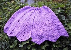 Free Crochet Ripple Capelet Pattern. So love this for my little Aurora and I would do it in the same color.