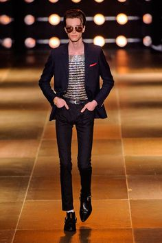 Male Fashion Trends: Saint Laurent Spring/Summer 2014 - París Fashion Week #PFW