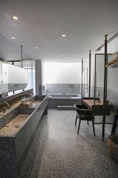 Chinese architecture firm Neri&Hu have designed the Tsingpu Yangzhou Retreat, a boutique hotel crafted from reclaimed brick, and built around a series of small lakes. Yangzhou, Terrazzo, Chinese Architecture, Architecture Design, Futuristic Architecture, Chinese Courtyard, Neri And Hu, Office Images, Bathroom Interior