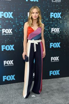 Halston Sage in Prabal Gurung at the 2017 FOX Upfront