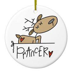 Shop Prancer the Reindeer Christmas Keepsake Ornament created by christmasshop. Reindeer Ornaments, Reindeer Christmas, Santa And Reindeer, Handmade Christmas, Christmas Crafts, Xmas, Christmas Ornaments, Christmas Stuff, Snowmen