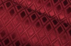 This rich shade of red adds a decadent feel to projects. Red Interior Design, Velvet Upholstery Fabric, Red Interiors, Shades Of Red, Ruby Red, Red Velvet, Blanket, Projects