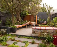 This inner-city garden has the ultimate low-maintenance style