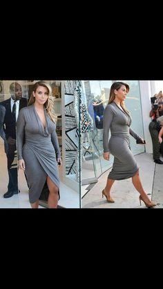 Figure flattering wrap dress