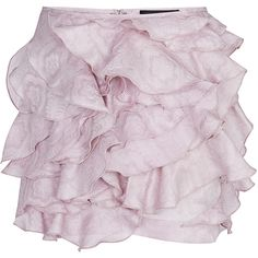 Isabel Marant Lilac Yumi Skirt (36,575 PHP) ❤ liked on Polyvore featuring skirts, mini skirts, mini skirt, pink skirt, isabel marant skirt, short skirts and short pink skirt