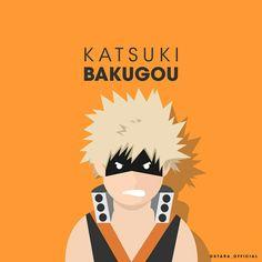 Katsuki Bakugou from Boku No Hero Academia Hero Name : Still not decided Quirk : Explosion  #flat #vector #minimalist #anime #bokunoheroacademia