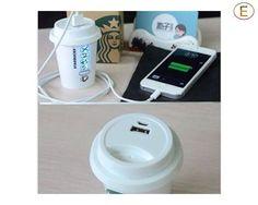 Epresent Power Bank Charger Starbucks Mobile Power Bank Battery (5200mAh Portable) (White) $33 from Shopocrat.com.au