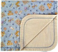 Quick and Easy Receiving Blanket - two layers of flannel and decorative machine stitching