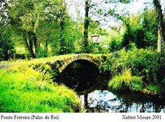 Puente Ferreira, medieval de origen romano en Otero de Rey. Lugo
