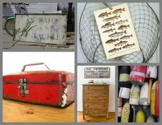 Cool stuff for fishing themed room