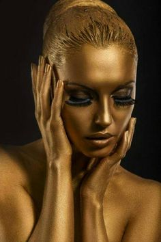 golden.. @ivannairem https://tr.pinterest.com/ivannairem/body-painting-face-painting-eyes/