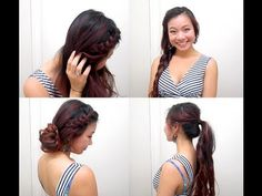 Versatile Braided Summer Hairstyles - YouTube