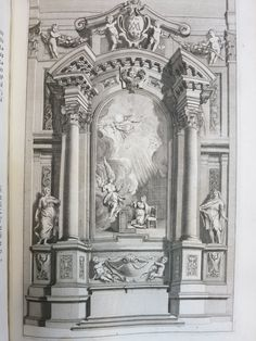 Pozzo, Andrea, 1642-1709.  Perspectiva pictorum et architectorum, Andreae Putei. Romae, A. Rubeis, 1723.  The theories and instruction of architect and painter Andrea Pozzo are set down in this text, first published in 1673 with an English translation appearing in 1700.  Pozzo's treatise was also translated into German and French, with many subsequent Latin-Italian editions as well.