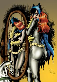 A female superhero with her buttocks featured front and centre? How NOT very innovative or you, Batgirl. Comic Book Girl, Comic Books Art, Comic Art, Book Art, Batwoman, Nightwing, Dc Comics, Batman And Batgirl, Hq Dc