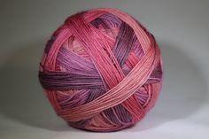Rose Wine Self Striping Sock Yarn by NightOwlFibers on Etsy