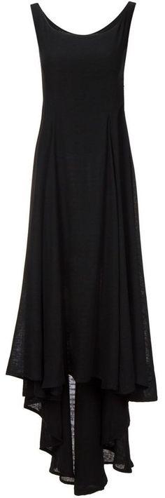 asymmetric flared dress in black <3