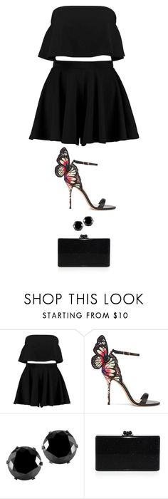 """""""Untitled #5181"""" by twerkinonmaz ❤ liked on Polyvore featuring Boohoo, Sophia Webster, West Coast Jewelry and Edie Parker"""