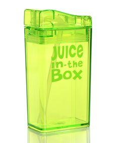 Green Reusable Juice Box | zulily