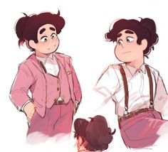 Hiii 🌟😀 I have no translation. These are meaningless lines, so imagine as you wish! Perla Steven Universe, Steven Universe Ships, Greg Universe, Steven Universe Memes, Universe Art, Character Art, Character Design, Steven Universe Characters, Steven Univese
