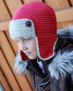 Crochet Aviator Hat Pattern (Two-Tone Colours) Gemas 59072f30ee1