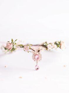 Эльфийская цветочная тиара розовая эльфийская листовая | Etsy