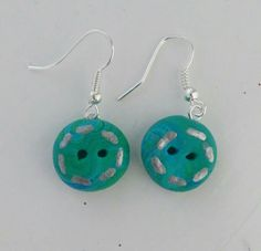 Polymer clay button earrings