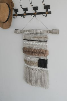 Free Crochet Pattern for a Crocheted & Woven Wall Hanging — Megmade with Love Crochet Wall Art, Crochet Wall Hangings, Crochet Home, Free Crochet, Crochet One Piece, Yarn Bee, Yarn Storage, Crochet Cushions, Crochet Pillow