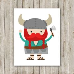 Nursery Print Instant Download Viking Print by MossAndTwigPrints, $5.00