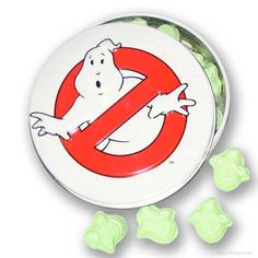 Ghostbusters sour candies w/ logo tin