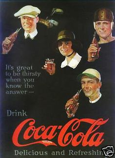 """It's great to be thirsty when you know the answer"", Coke Ad 1922"