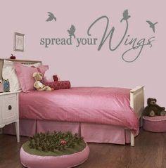 Birds Spread Your Wings  Positive Energy Animal Wall Art Home Decor Decal Nursery Children Teen Girl Boy Bedroom Door Decal. $22.99, via Etsy.