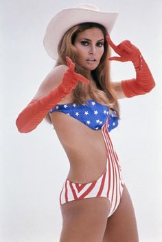 raquel welch. i love that she has stretch marks.