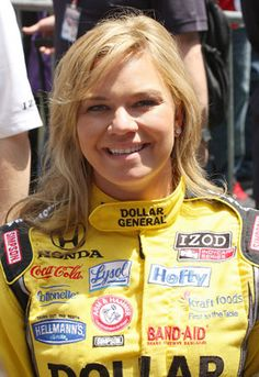 Sarah Fisher, retired IRL driver and now a team owner.