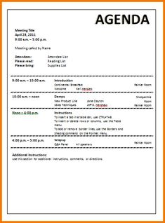 Free Meeting Agenda Templates  Bates On Design  Itinerary
