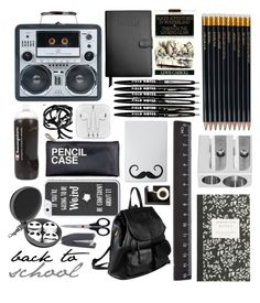 """back to school supplies ≧◡≦"" by tardis-221b ❤ liked on Polyvore featuring interior, interiors, interior design, дом, home decor, interior decorating, Royce Leather, J.Crew, Sloane Stationery и Caran D'Ache"
