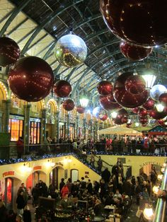 Christmas decorations at the Covent Garden Market, London