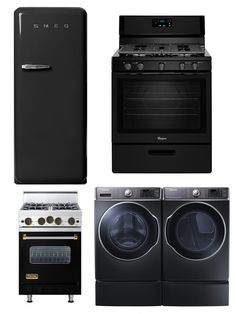Is the seemingly endless reign of silver appliances coming to end? black kitchen appliances
