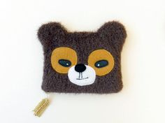 Bear Pouch by etsy shop OneLittleRedFox