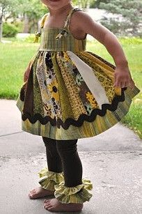 Tutorial: Knotty sundress with ruffled leggings for little girls | Sewing | CraftGossip.com