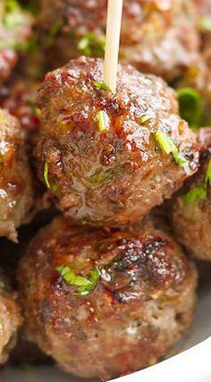 Baked Cilantro Meatballs