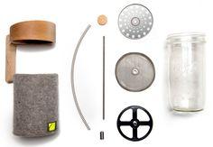 Bucket's Portland Press - Turn a standard Mason jar into a sustainably-made French press