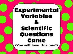 Excellent! Easily teach students about the nature of scientific inquiry, investigation, & experimental variables.