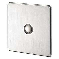 Crabtree 1-Gang 400W Touch Dimmer Brushed Chrome | Switches & Sockets | Screwfix.com