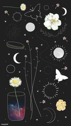 Minimal floral galaxy design mobile phone wallpaper vector s Instagram Emoji, Creative Instagram Stories, Instagram And Snapchat, Instagram Blog, Instagram Story Ideas, Instagram Quotes, Phone Wallpaper Boho, Cute Wallpaper Backgrounds, Aesthetic Iphone Wallpaper