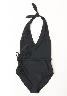 Early to Rise One-Piece Swimsuit in Black. Unpack this black swimsuit into the bureau of your beachside suite! #black #modcloth