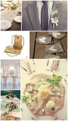 Rustic Wedding Chic: Burlap Wedding Inspirations