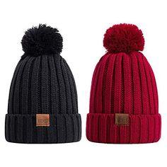 126c5d503e3 REDESS Women Winter Pom Pom Beanie Hat with Warm Fleece Lined