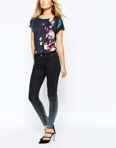 Image 1 ofTed Baker Ombray Wash Denim Jean