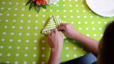 Learn how to fold a napkin into a square knot fold. This is a great napkin fold for a modern place setting. Modern Napkins, Centerpieces, Table Decorations, Napkin Folding, Event Design, Tablescapes, Knots, Table Settings, Dining Room