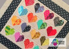 A curated list of 22 free heart quilt patterns Heart Quilt Pattern, Quilt Square Patterns, Beginner Quilt Patterns, Quilting For Beginners, Quilt Block Patterns, Quilt Tutorials, Quilt Blocks, Doll Quilt, Mini Quilts